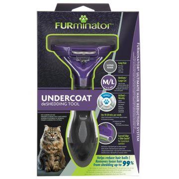 Furminator Katzen-Fellpflegewerkzeug M/L für die Unterwolle großer, langhaariger Katzen