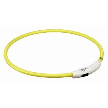 Trixie Flash Leuchtring USB gelb L-XL 65 cm/7 mm