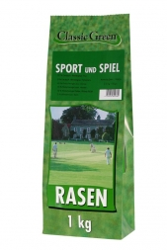 Classic Green Sport- & Spielrasen Papierbeutel 1kg (Menge: 10 je Bestelleinheit)