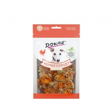 Dokas Dog Hühnerbrust mit Karotte 70 g (Menge: 8 je Bestelleinheit)