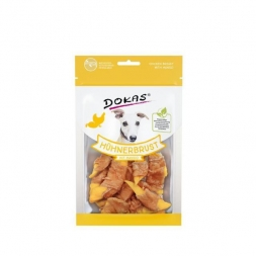 Dokas Hundesnack Hühnerbrustfilet mit Mango 70g (Menge: 8 je Bestelleinheit)