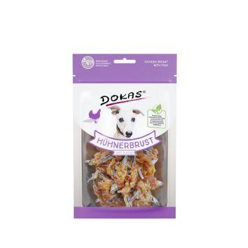 Dokas Dog Hühnerbrust mit Fisch 70 g (Menge: 8 je Bestelleinheit)
