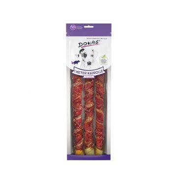 Dokas Hundesnack 1 m Kaurolle mit Ente 3 x 34 cm (Menge: 8 je Bestelleinheit)