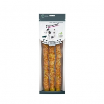 Dokas Hundesnack 1 m Kaurolle mit Huhn 3 x 34 cm (Menge: 8 je Bestelleinheit)