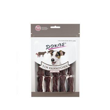 Dokas Dog 5 cm Kauknochen mit Lamm 12 Stück (10x) (Menge: 10 je Bestelleinheit)