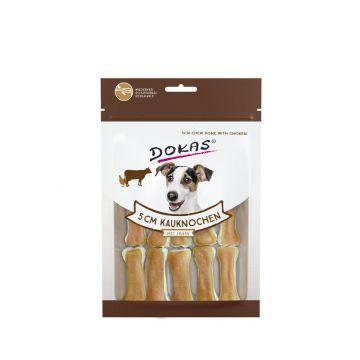 Dokas Dog 5 cm Kauknochen mit Huhn 12 Stück (10x) (Menge: 10 je Bestelleinheit)