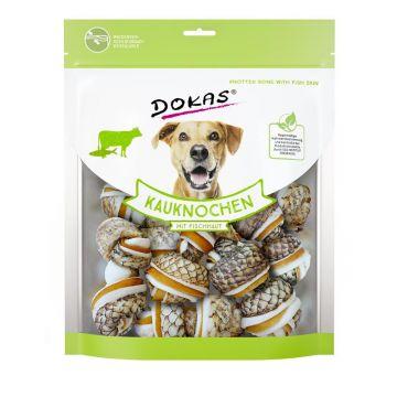 Dokas Dog Kauknochen mit Fischhaut 250 g (Menge: 7 je Bestelleinheit)