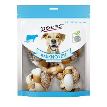 Dokas Hundesnack Kauknoten mit Fischhaut (Tilapia) 250g (Menge: 6 je Bestelleinheit)