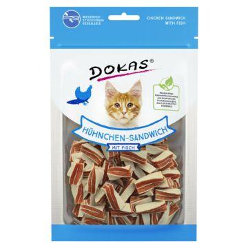 Dokas Cat Snack Hühnchen Sandwich mit Fisch 10 x 70g (Menge: 10 je Bestelleinheit)