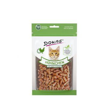 Dokas Cat Snack Hühnchen mit Reis und Sesam 12 x 70g (Menge: 12 je Bestelleinheit)