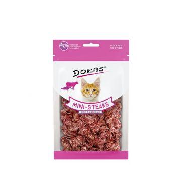 Dokas Cat Ministeaks Rind & Kabeljau 40 g (Menge: 10 je Bestelleinheit)