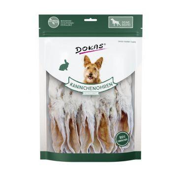 Dokas Dog Kaninchenohren mit Fell getrocknet 180 g (Menge: 7 je Bestelleinheit)