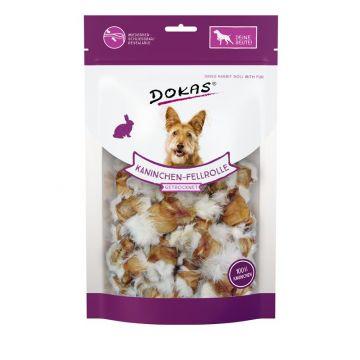 Dokas Dog Kaninchen-Rolle mit Fell 100 g (Menge: 8 je Bestelleinheit)