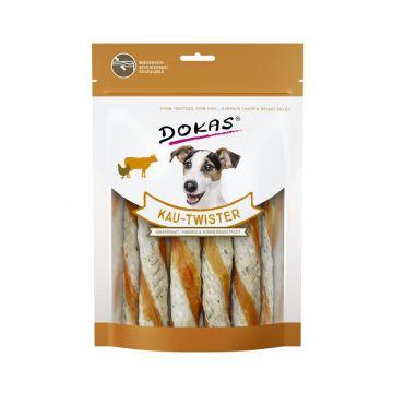 Dokas Dog Kau Twister Rinderhaut, Pansen & Hühnerbrust 200 g (Menge: 9 je Bestelleinheit)