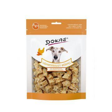 Dokas Dog Hühnerbrust-Würfel,Süsskartoffel, Leinsamen 150 g (Menge: 8 je Bestelleinheit)