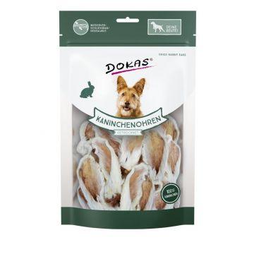 Dokas Dog Kaninchenohren mit Fell getrocknet 100 g (Menge: 7 je Bestelleinheit)