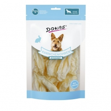 Dokas Dog Kaninchenohren ohne Fell getrocknet 70 g (Menge: 7 je Bestelleinheit)