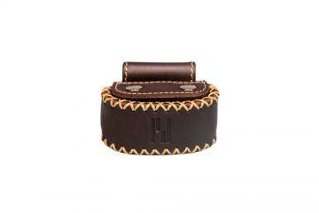 privédeur GRETA Trackertasche Premium, braun geölt für Halsband 30-35 cm x 1,9 mm