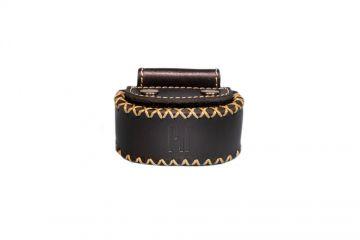 privédeur GRETA Trackertasche Premium, schwarz für Halsband 43-50 cm x 34 mm