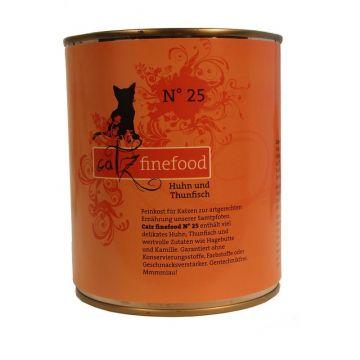 Catz finefood No. 25 Huhn & Thunfisch 800g (Menge: 6 je Bestelleinheit)