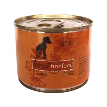 Dogz finefood Dose No.  8 Pute & Ziege 200g (Menge: 6 je Bestelleinheit)