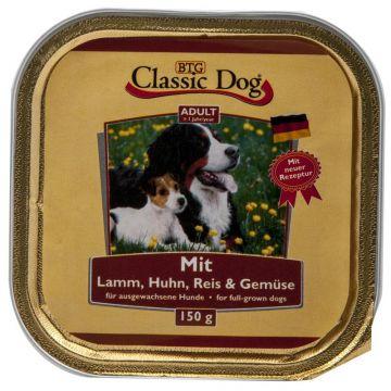 Classic Dog Schale Lamm, Huhn, Reis & Gemüse 150g (Menge: 20 je Bestelleinheit)