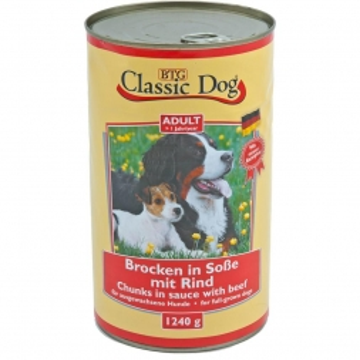 Classic Dog Dose Rind 1240g (Menge: 6 je Bestelleinheit)