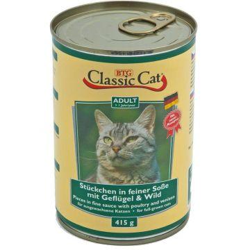 Classic Cat Dose Soße mit Geflügel & Wild 415g (Menge: 12 je Bestelleinheit)