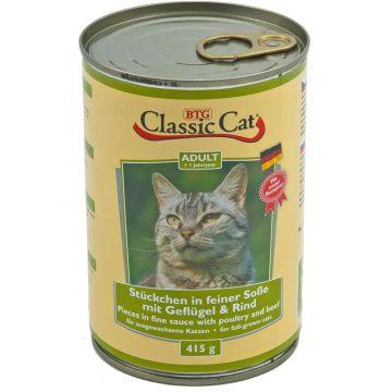 Classic Cat Dose Soße mit Geflügel & Rind 415g (Menge: 12 je Bestelleinheit)