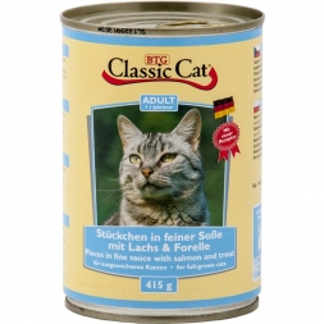 Classic Cat Dose Soße mit Lachs & Forelle 415g (Menge: 12 je Bestelleinheit)