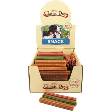 Classic Dog Snack Kaustange glutenfrei Mini 12cm in natur, rot oder grün (Menge: 150 je Bestelleinheit)