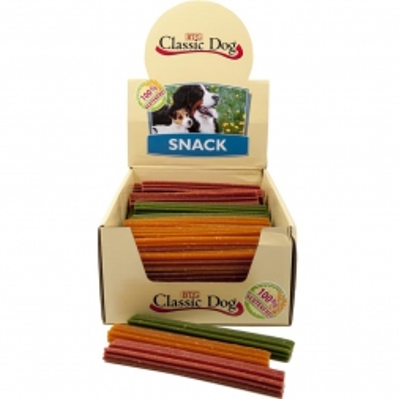 Classic Dog Snack Kaustange glutenfrei Medium 17cm in natur, rot oder grün (Menge: 70 je Bestelleinheit)