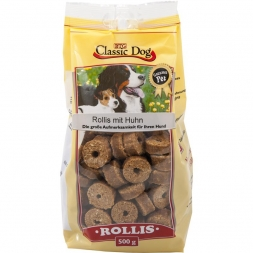 Classic Dog Snack Rollis mit Huhn 500g