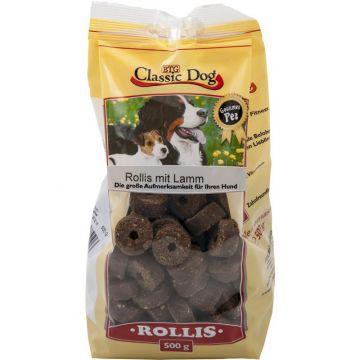 Classic Dog Snack Rollis mit Lamm 500g