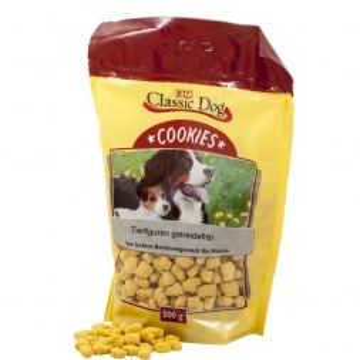Classic Dog Snack Cookies Tierfiguren getreidefrei 500g