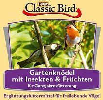 Classic Bird Gartenknödel mit Früchten & Insekten 6 Stück auf Tablett (Menge: 16 je Bestelleinheit)