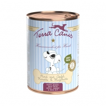 Terra Canis Welpenmenü Rind mit Apfel, Karotte und Hagebutte 400g (Menge: 12 je Bestelleinheit)