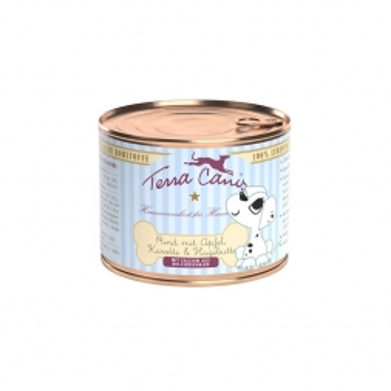 Terra Canis Welpenmenü Rind mit Apfel, Karotte und Hagebutte 200g (Menge: 12 je Bestelleinheit)