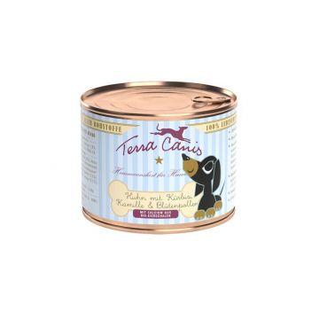 Terra Canis Dose Huhn mit Kürbis, Kamille & Blütenpollen für Welpen 200 g (Menge: 12 je Bestelleinheit)