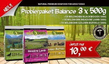 WILDBORN getreidefreies Hundefutter 3x500g Probierpaket BALANCE