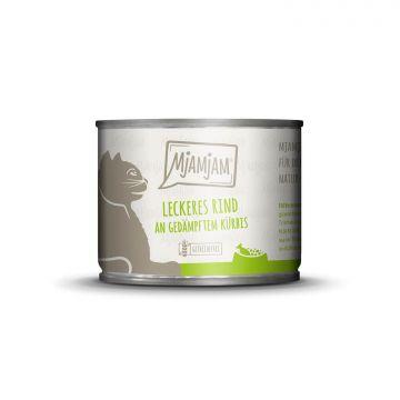 MjAMjAM - leckeres Rind an gedämpftem Kürbis 200 g (Menge: 6 je Bestelleinheit)
