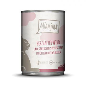 MjAMjAM - herzhaftes Wild & Kaninchen an fruchtigen Heidelbeeren 400 g (Menge: 6 je Bestelleinheit)