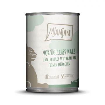 MjAMjAM - vorzügliches Kalb & Truthahn an leckeren Möhrchen 400 g (Menge: 6 je Bestelleinheit)
