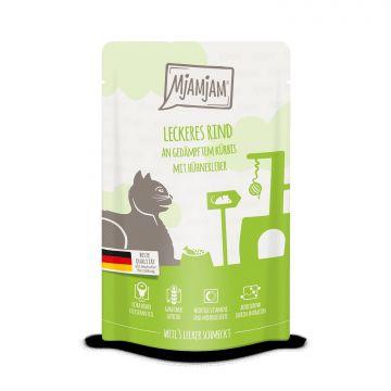 MjAMjAM - Quetschie - leckeres Rind an gedämpftem Kürbis 125 g (Menge: 12 je Bestelleinheit)