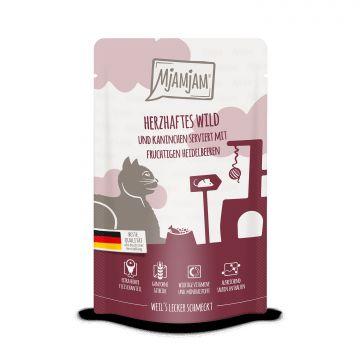 MjAMjAM - Quetschie - herzhaftes Wild & Kaninchen an fruchtigen Heidelbeeren 125 g (Menge: 12 je Bestelleinheit)