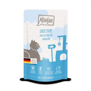 MjAMjAM - Quetschie - zarte Ente & Geflügel an leckeren Möhrchen 125 g (Menge: 12 je Bestelleinheit)