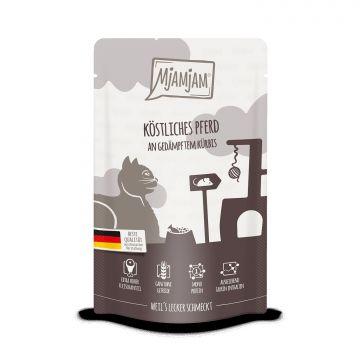 MjAMjAM - Quetschie - köstliches Pferd an gedämpftem Kürbis 125 g (Menge: 12 je Bestelleinheit)