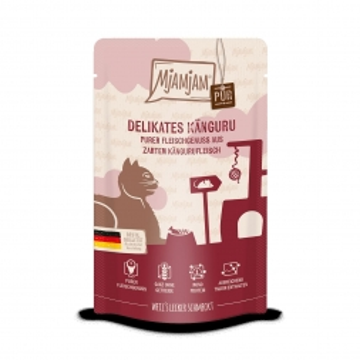 MjAMjAM - Quetschie - purer Fleischgenuss - zartes Känguru pur 125 g (Menge: 12 je Bestelleinheit)