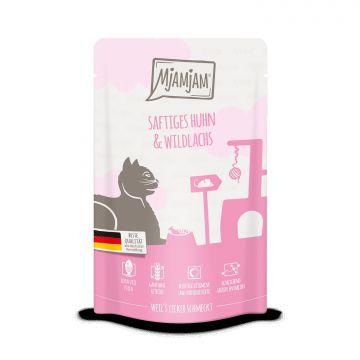 MjAMjAM - Quetschie saftiges Huhn & Wildlachs 125 g (Menge: 12 je Bestelleinheit)