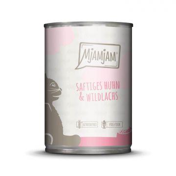 MjAMjAM - saftiges Huhn & Wildlachs 400 g (Menge: 6 je Bestelleinheit)